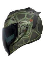 Full face helmet Icon Airflite Blockchain green