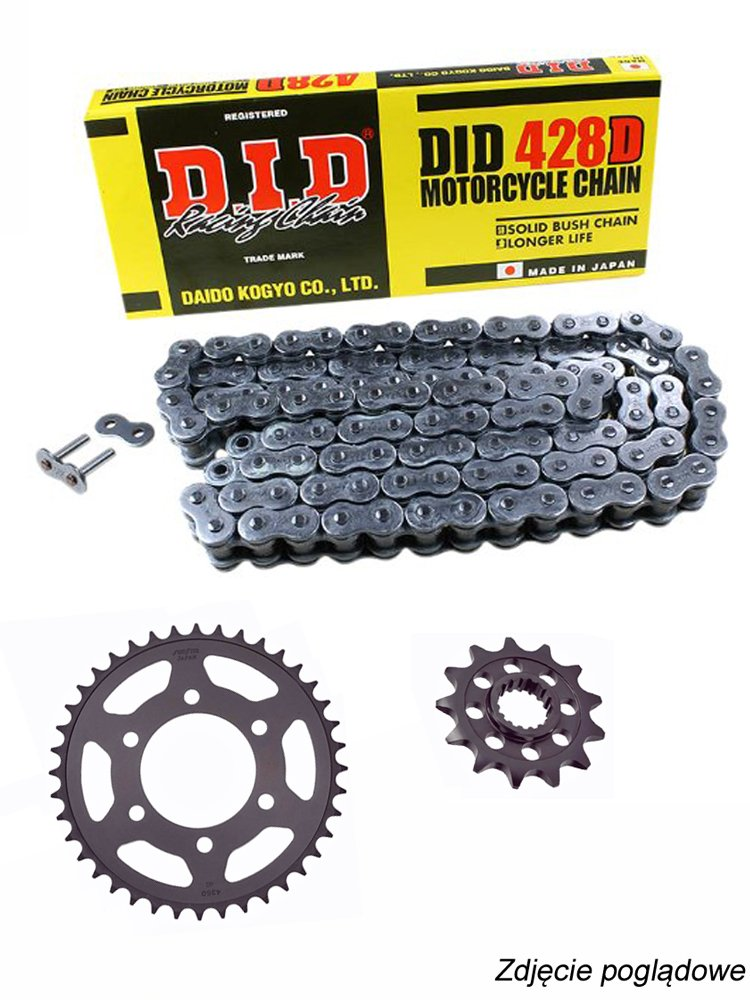 Chain Did 428 D 132 Chain Link And Sunstar Sprockets For Yamaha