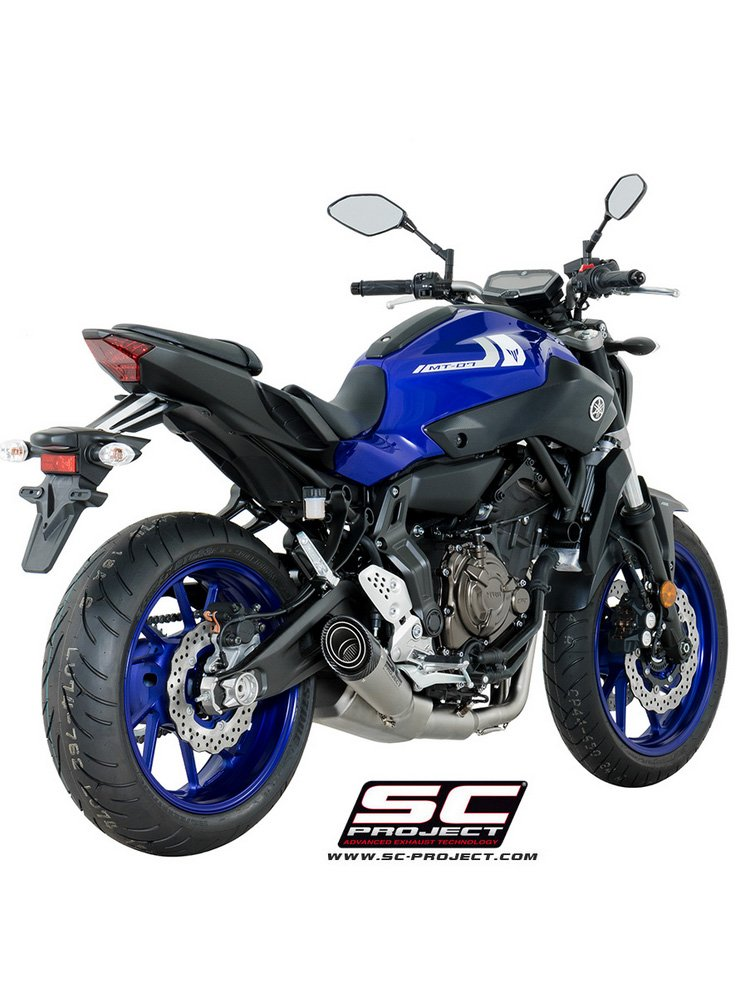 full exhaust system 2 1 with s1 muffler with euro4 homologation sc project for yamaha mt 07 17. Black Bedroom Furniture Sets. Home Design Ideas