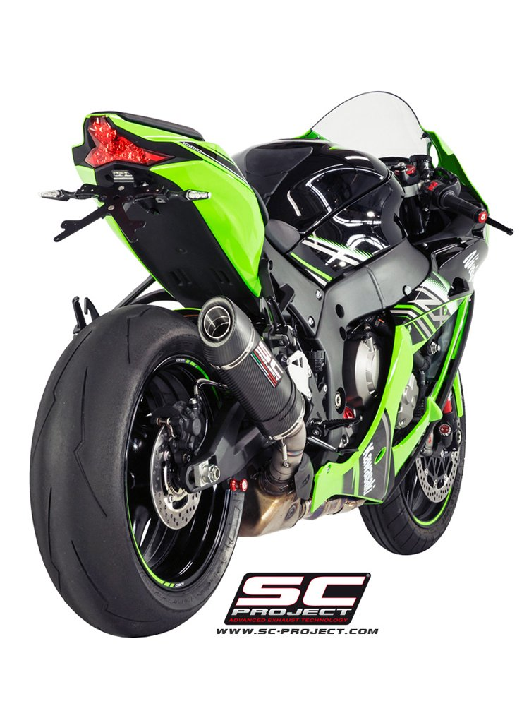 Oval Silencer For Original Catalyst Slip On Sc Project For Kawasaki