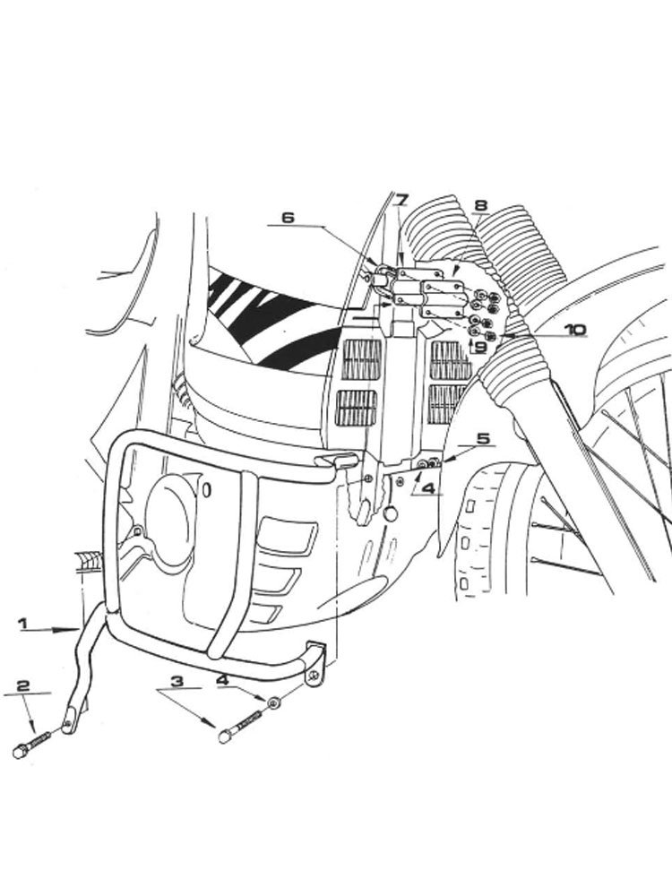 Specific Engine Guard For Honda Xl 600v Transalp 89 99 Moto Tour