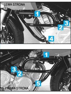 H&B Engine protection - silver BMW F 800 S