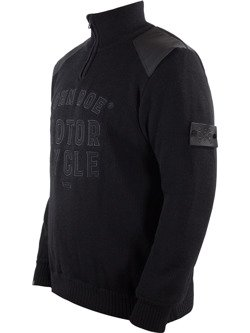 Knit Pullover JOHN DOE Zip Big Logo
