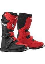 Buty off-road Thor Blitz XP dziecięce czerwono-czarne