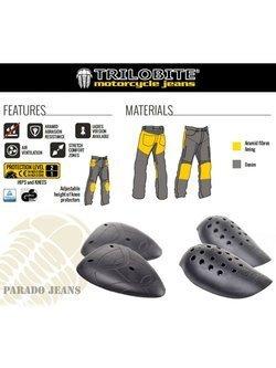 Jeansowe spodnie motocyklowe TRILOBITE Parado Light Grey