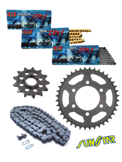 KTM ADVENTURE 990 [10-13]/990R [10-13] zestaw napędowy DID525 ZVMX G&G SUPER STREET (X-ring hiper-wzmocniony, złoty) zębatki SUNSTAR