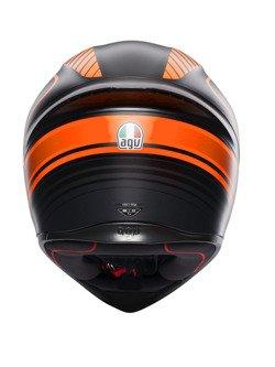 Kask integralny AGV K1 Warmup czarno-pomarańczowy