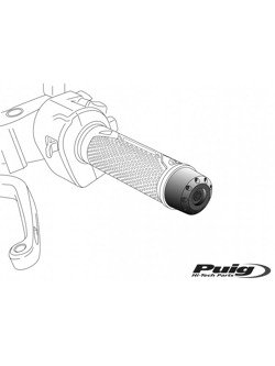 Końcówki kierownicy PUIG do Honda - krótkie (karbonowe)