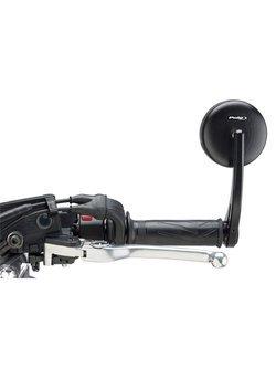Lusterka PUIG Hi-Tech Grand Tracker do kierownic motocykli Aprilia / BMW / Ducati / Honda / KTM / MV Agusta / Triumph / Yamaha (czarne)