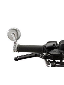 Lusterka PUIG Hi-Tech Tracker do kierownic motocykli Aprilia / BMW / Ducati / Honda / KTM / MV Agusta / Triumph / Yamaha (srebrne)