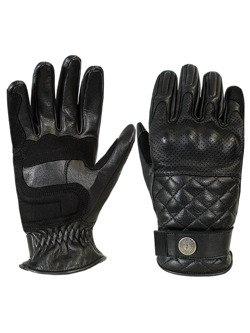 Rękawice motocyklowe skórzane John Doe Tracker - XTM czarne