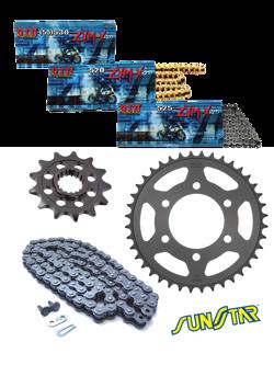 SUZUKI DRZ 400S [00-15] zestaw napędowy DID520 ZVMX SUPER STREET (X-ring hiper-wzmocniony) zębatki SUNSTAR
