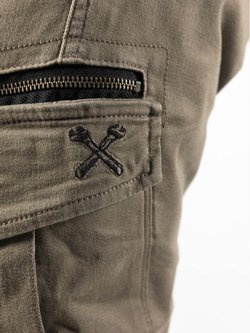Spodnie motocyklowe tekstylne John Doe Cargo Stroker piaskowe