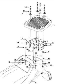Stelaż GIVI pod kufer centralny Monokey® BMW K75 750/ K100 1000 [90]/ K 1100 RS [płyta Monokey® w zestawie]