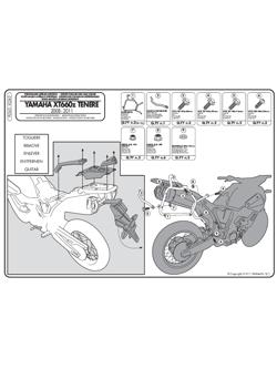 Stelaże Givi pod kufry boczne Monokey do Yamaha XT 660Z Teneré (08 > 16)