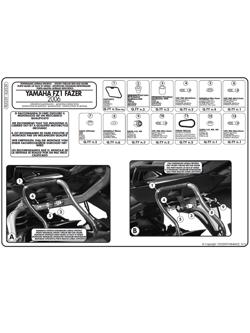 Stelaże pod kufry boczne MONOKEY SIDE do Yamahy FZ1 1000 / FZ1 Fazer 1000  (06 -)