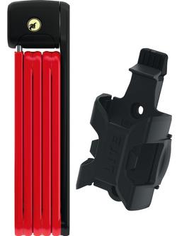 Zapięcie składane ABUS Bordo Lite 6055/85 Czerwone z uchwytem