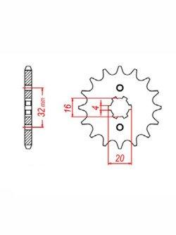 Zębatka napędowa SUNSTAR 241 [14 zębów]