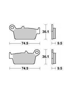 Klocki hamulcowe [tył] SBS 604 HF