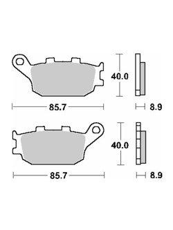 Klocki hamulcowe [tył] SBS 657 HF