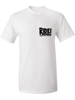 Koszulka motocyklowa John Doe Ride biały