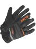 Rękawice motocyklowe teksylne Büse Fresh czarno-pomarańczowe