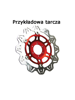 Tarcza Hamulcowa EBC VR629RED VEE ROTOR czerwona na przód. Średnica 320mm.
