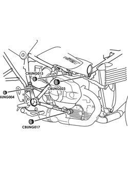 Zaślepki ramy PUIG do BMW R Nine T/Scrambler/Pure/Racer/Urban G/S